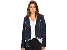 Blank NYC Navy Blue Moto Jacket in Blue Valentine