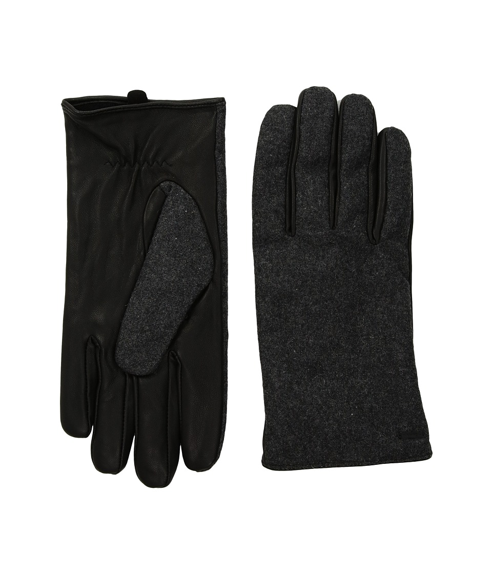 Scotch & Soda Mix Match Wool/Leather Gloves (Combo B) Extreme Cold Weather Gloves