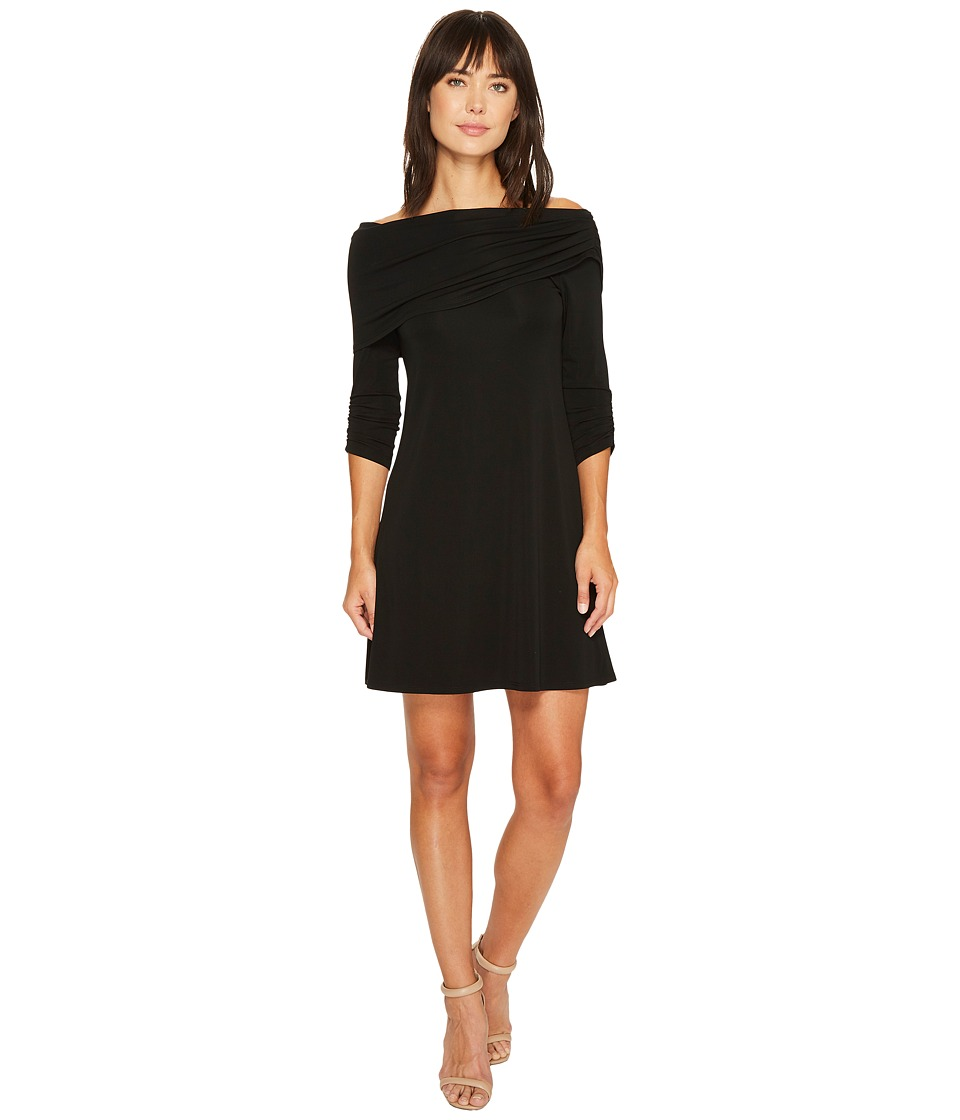 Karen Kane Jackie Boat Neck Dress (Black) Women