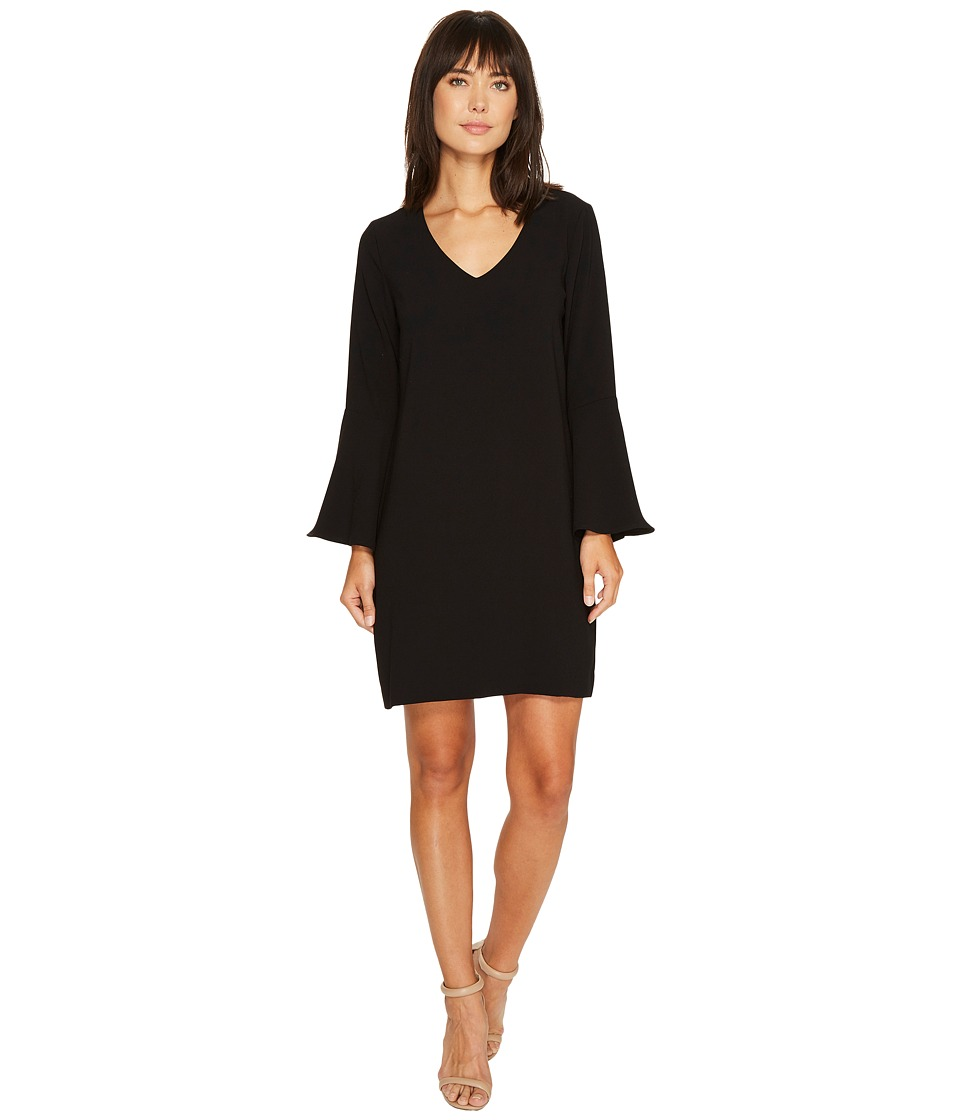 Karen Kane Madeline Bell Sleeve Dress (Black) Women