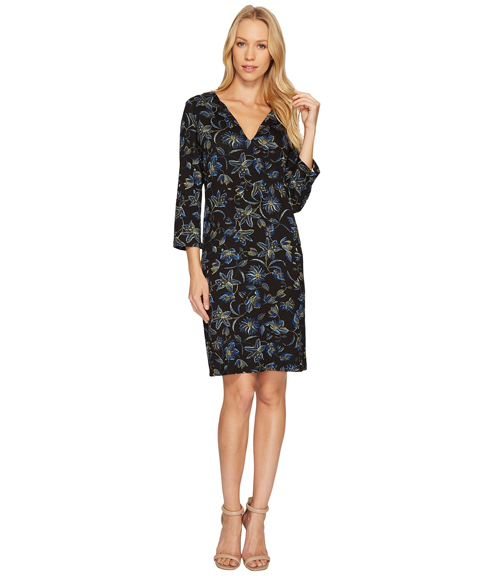 Karen Kane Floral Stitch Print Shift Dress (Print) Women
