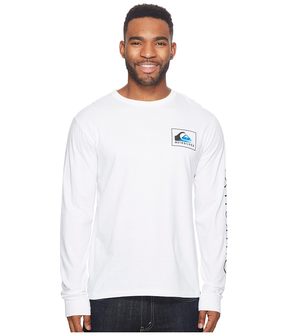 Quiksilver Hold Down Long Sleeve Tee (White) Men
