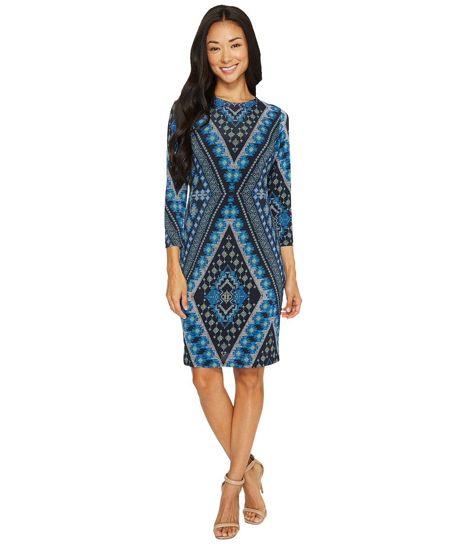 Karen Kane Diamond Print Sheath Dress (Print) Women