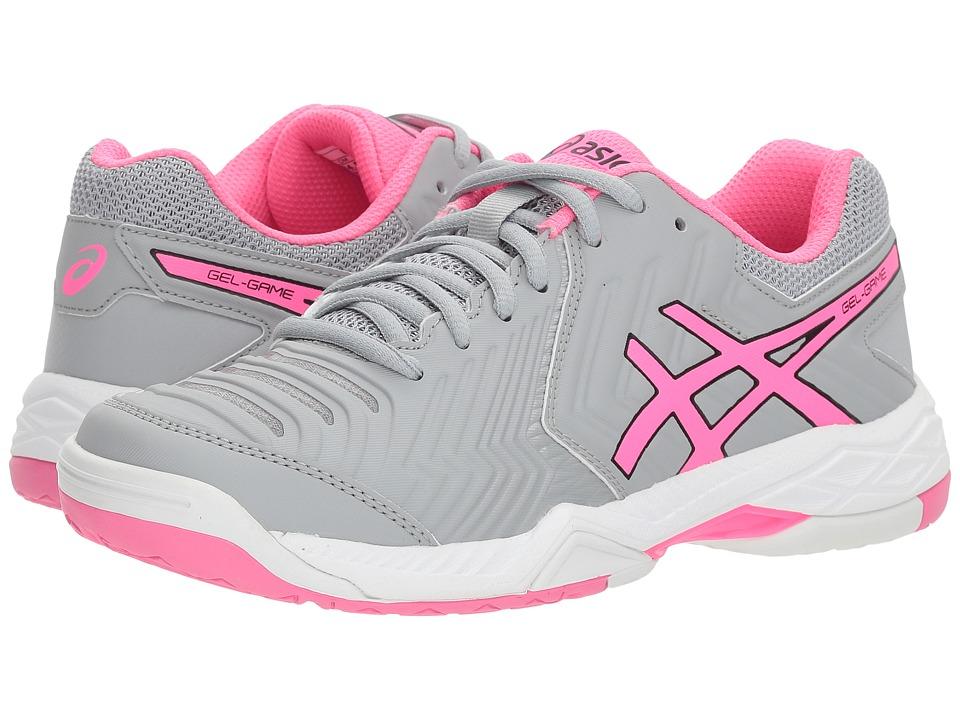 ASICS Gel-Game 6 (Mid Grey/Hot Pink/White) Women's Tennis Shoes