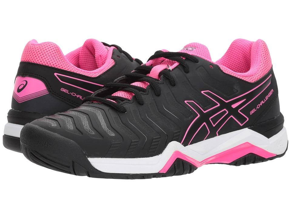 ASICS - Gel-Challenger 11 (Black/Black/Hot Pink) Womens Tennis Shoes
