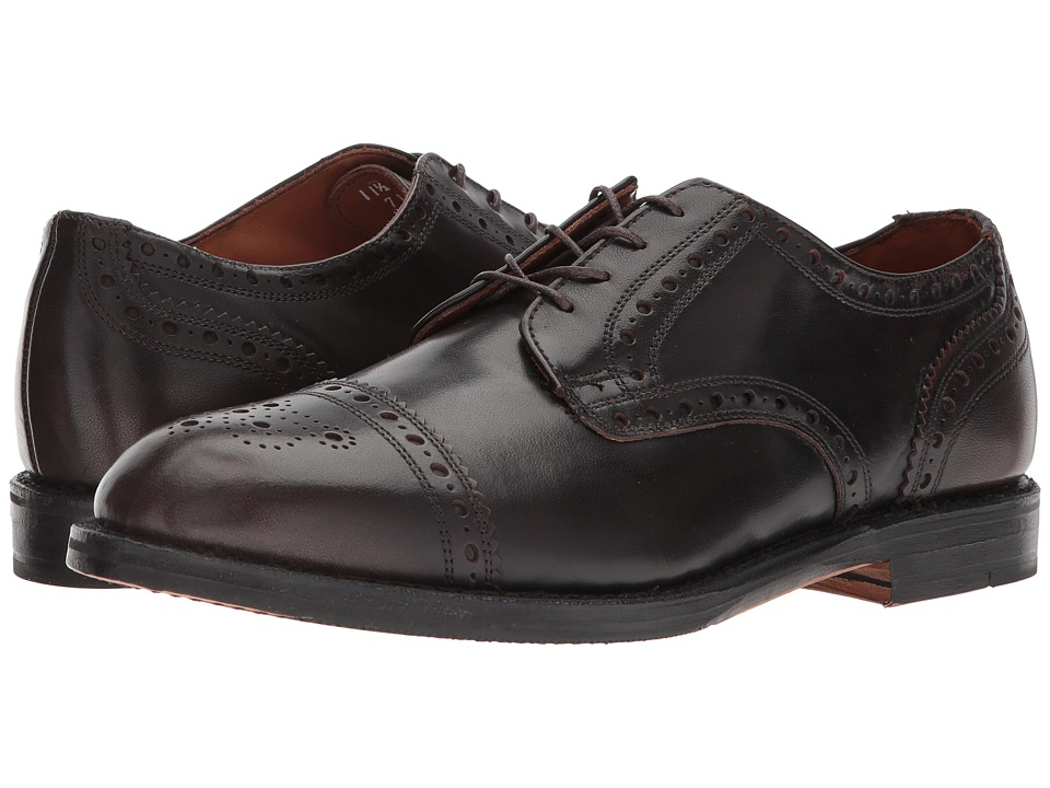 Allen Edmonds Whitney Cap Toe (Brown Burnished Calf) Men'...