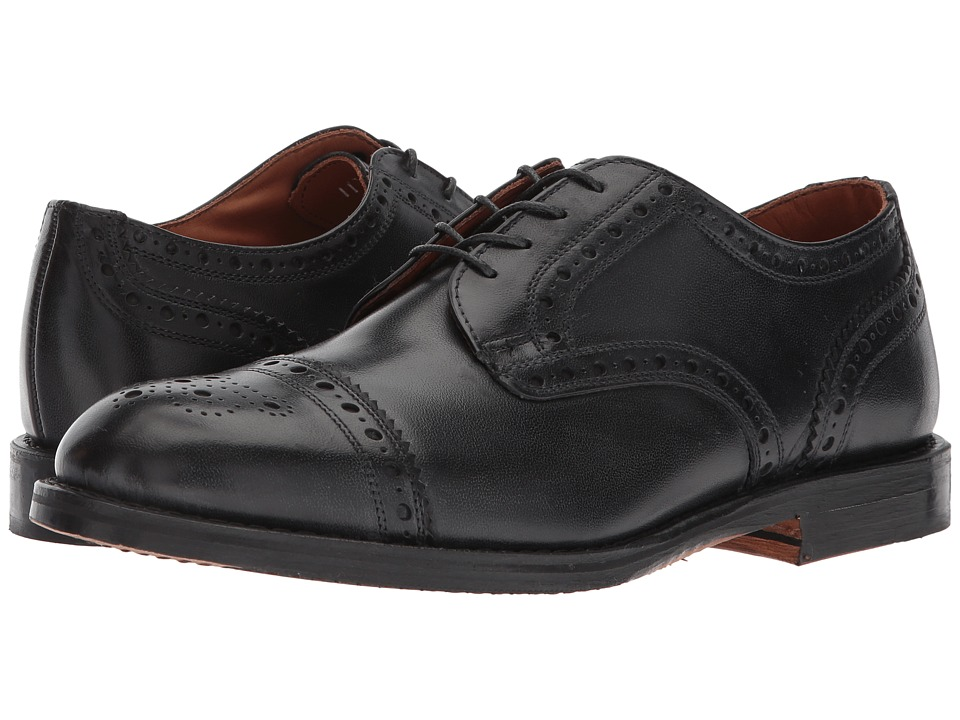 Allen Edmonds Whitney Cap Toe (Black Calf) Men's Lace Up ...