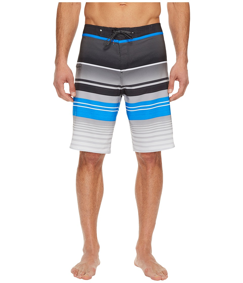 Quiksilver Everyday Stripe Vee 21 Boardshorts (Electric Blue) Men