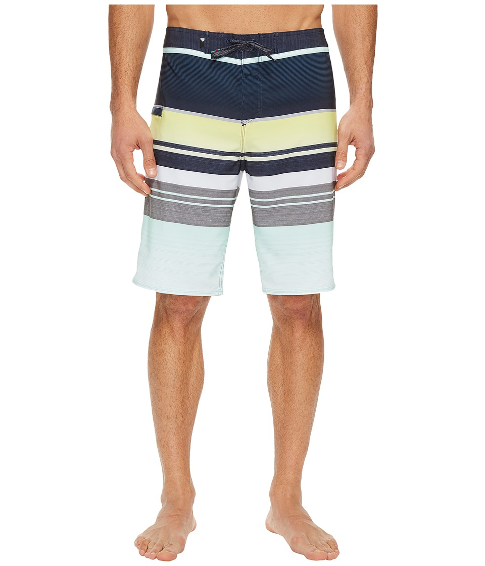 Quiksilver Everyday Stripe Vee 21 Boardshorts (Blue Light) Men