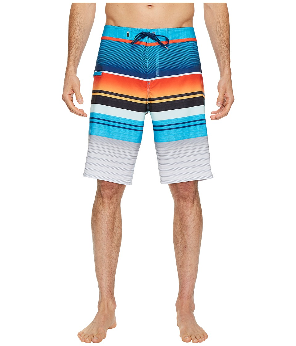 Quiksilver Everyday Stripe Vee 21 Boardshorts (Cherry Tomatoe) Men