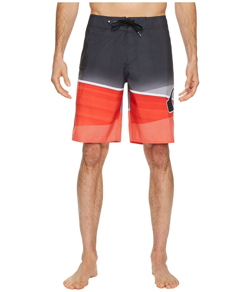 Quiksilver Slash Logo 20 Boardshorts (Cherry Tomato) Men