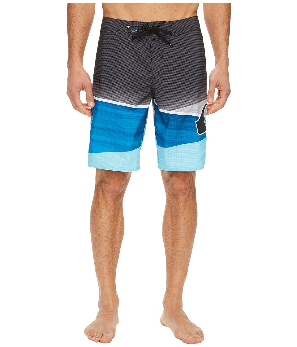 Quiksilver Slash Logo 20 Boardshorts (Atomic Blue) Men