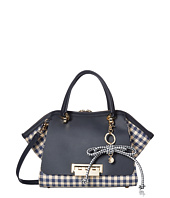 ZAC Zac Posen - Eartha Iconic Small Double Handle with Gingham Straw