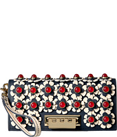 ZAC Zac Posen - Earthette Wristlet Wallet with Floral Applique