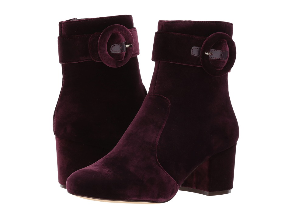Vintage Style Shoes, Vintage Inspired Shoes Nine West - Quilby Dark Purple Fabric Womens Boots $118.95 AT vintagedancer.com