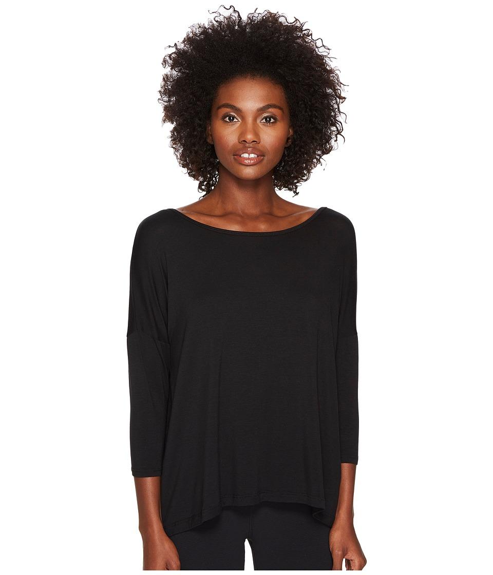 Kate Spade New York x Beyond Yoga Split Keyhole 3/4 Sleeve Pullover (Black) Women