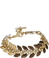 Lucky Brand - Tri-Tone Leaf Link Bracelet
