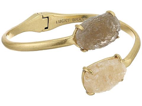 Lucky Brand Druzy Cuff Bracelet - Gold