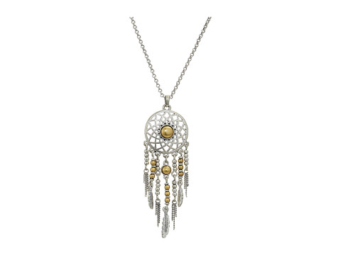 Lucky Brand Dream Catcher Pendant Necklace - Two-Tone