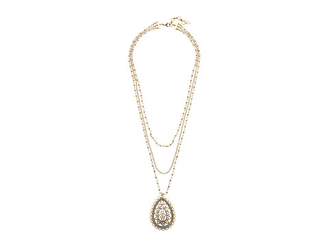 Lucky Brand Openwork Layer Necklace - Two-Tone
