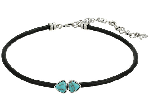 Lucky Brand Turquoise Choker Necklace - Silver
