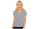 Breton Stripe V-Neck Short Sleeve Tee