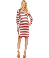 Three Dots - Breton Stripe Combo Shift Dress