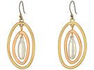 Lucky Brand Tri-Tone Orbital Earrings
