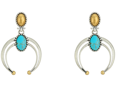 Lucky Brand Convertible Turquoise Earrings - Two-Tone
