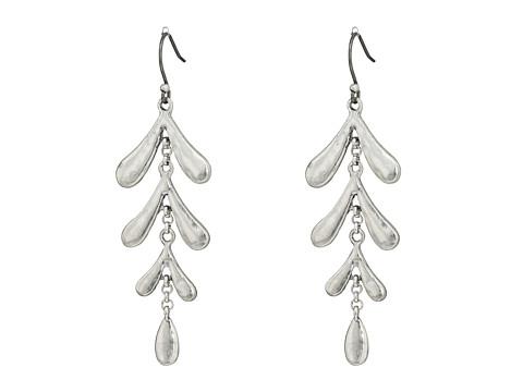 Lucky Brand Leaf Motif Earrings - Silver