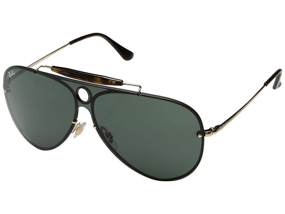 Ray-Ban Blaze Shooter RB3581N 32mm (Shiny Gold/Green) Fashion Sunglasses