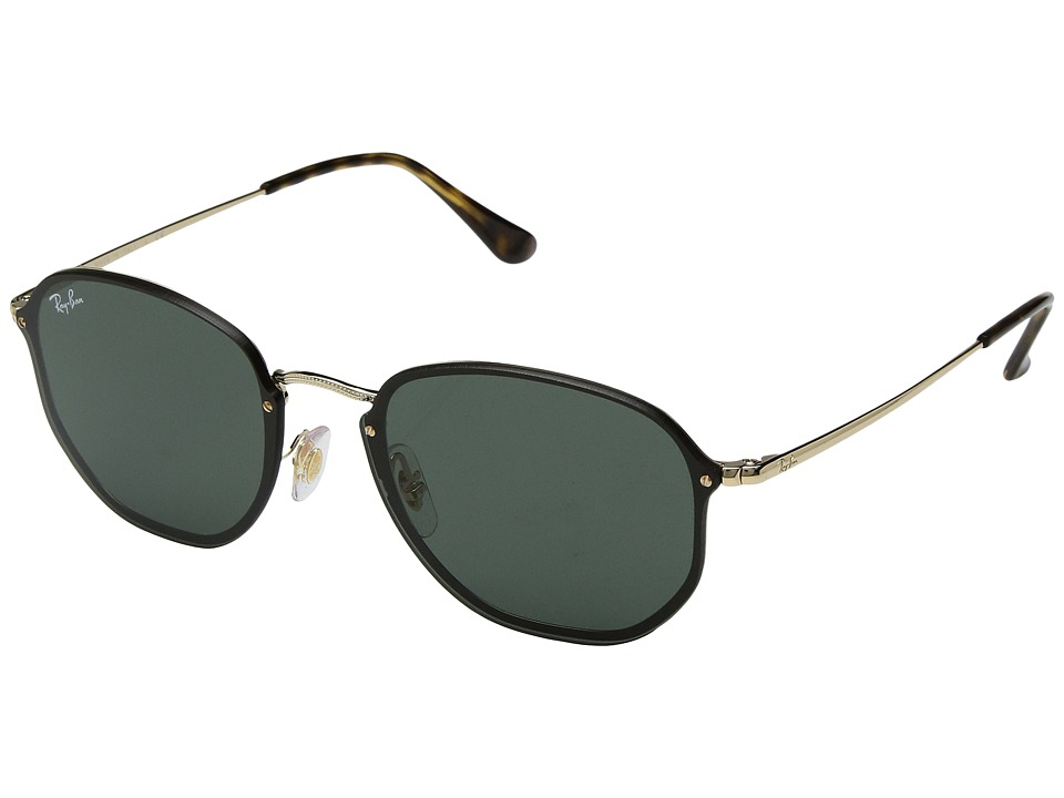Ray-Ban Blaze Hexagonal RB3579N 58mm (Shiny Gold/Green) Fashion Sunglasses