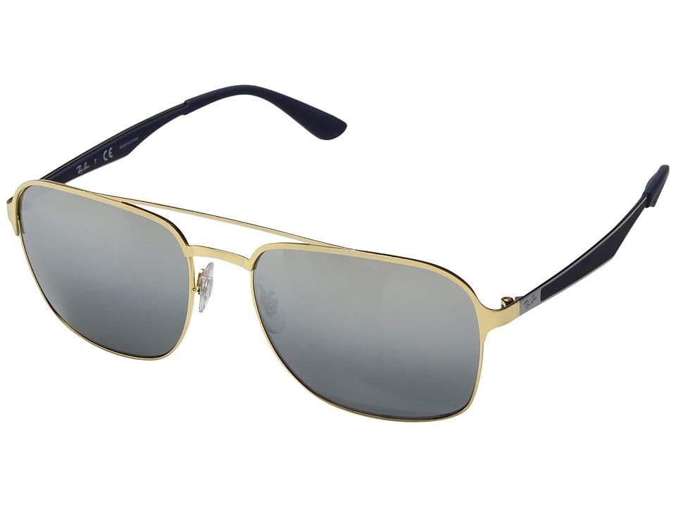 Ray-Ban RB3570 58mm (Gold/Grey Mirror Silver Gradient) Fashion Sunglasses