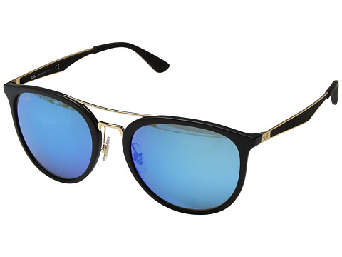 Ray-Ban RB4285 55mm - Matte Black/Green Blue Mirror