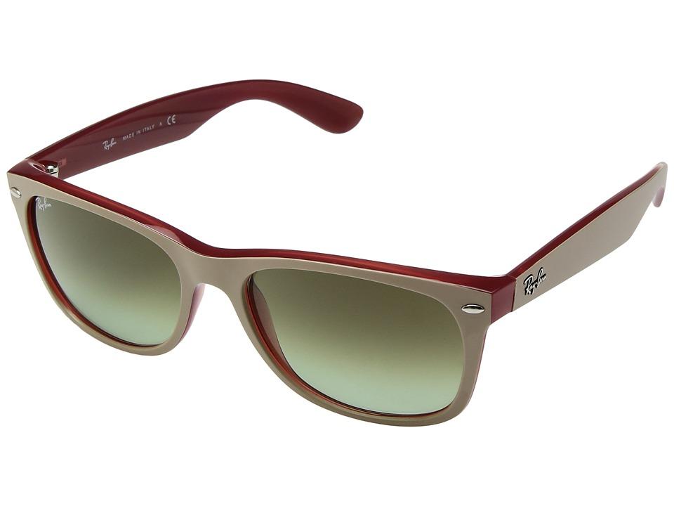 Ray-Ban 0RB2132 New Wayfarer 58mm (Beige on Red/Green Gradient) Fashion Sunglasses