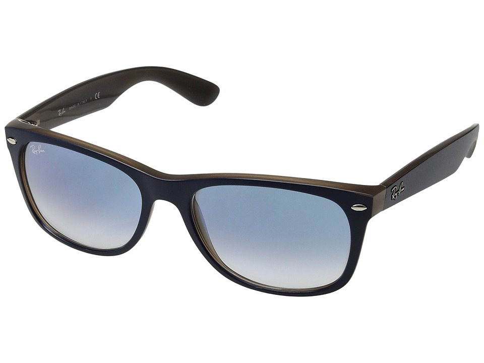Ray-Ban 0RB2132 New Wayfarer 58mm (Blue on Brown/Light Blue Gradient) Fashion Sunglasses