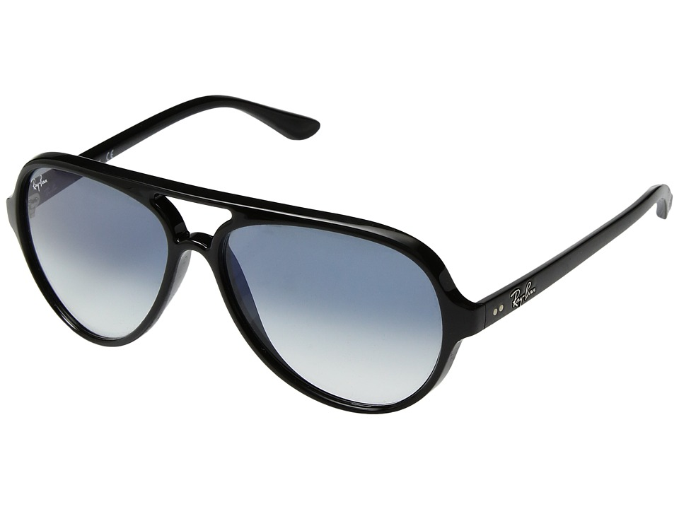 Ray-Ban Cats 5000 RB4125 59mm (Black/Light Blue Gradient) Fashion Sunglasses