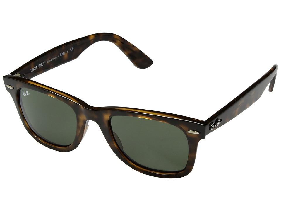 Ray-Ban Wayfarer Ease RB4340 50mm (Havana/Green Classic G-15) Fashion Sunglasses
