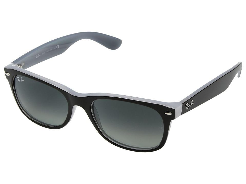 Ray-Ban RB2132 New Wayfarer 55mm (Black/Grey Gradient) Fashion Sunglasses