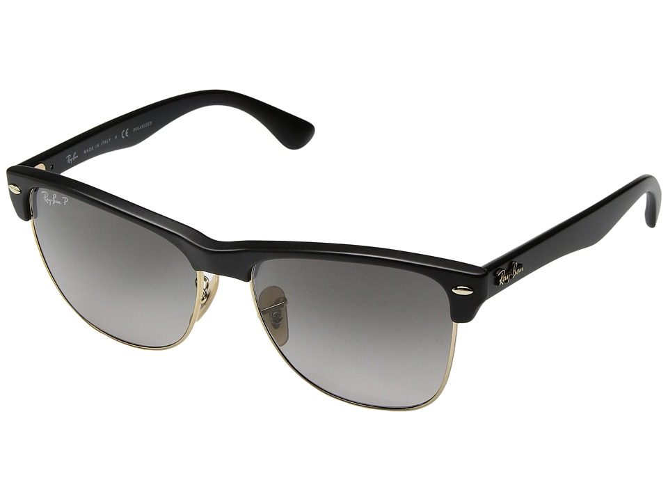 Ray-Ban - RB4175 Oversized Clubmaster 57mm (Black/Grey Gradient) Fashion Sunglasses