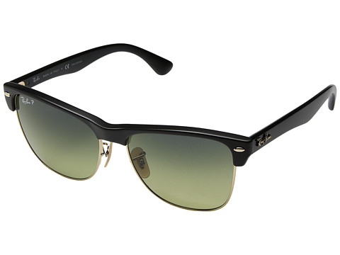 Ray-Ban RB4175 Oversized Clubmaster 57mm - Black/Polarized Blue Green Gradient