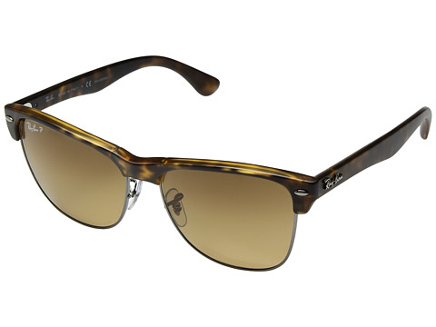 Ray-Ban RB4175 Oversized Clubmaster 57mm - Havana/Polarized Brown Gradient