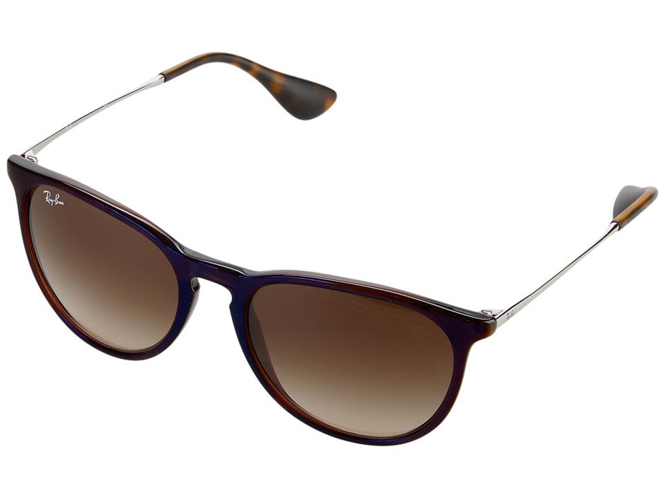 Ray-Ban Erika RB4171 54mm (Transparent Brown/Brown Gradient) Fashion Sunglasses