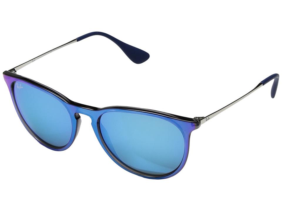 Ray-Ban Erika RB4171 54mm (Flash Blue/Blue Mirror) Fashion Sunglasses