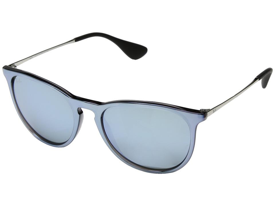 Ray-Ban Erika RB4171 54mm (Flash Grey/Silver Mirror) Fashion Sunglasses