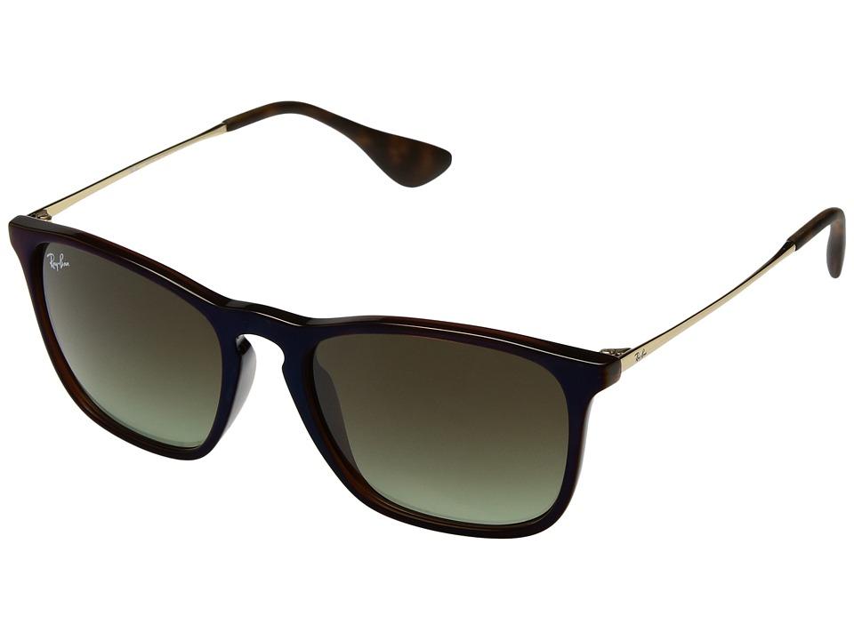 Ray-Ban Chris RB4187 54mm (Brown/Brown Gradient) Fashion Sunglasses