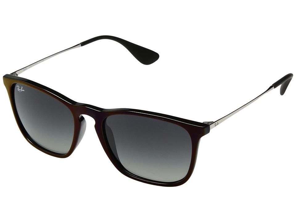 Ray-Ban Chris RB4187 54mm (Black/Red/Grey Gradient) Fashion Sunglasses