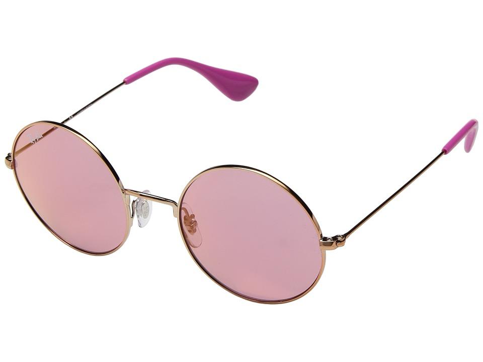 Ray-Ban RB3592 JA-JO 50mm (Shiny Copper/Pink Dark Mirror Red) Fashion Sunglasses