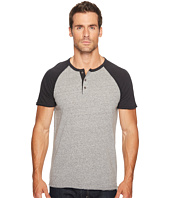 Lucky Brand - Short Sleeve Baseball Henley