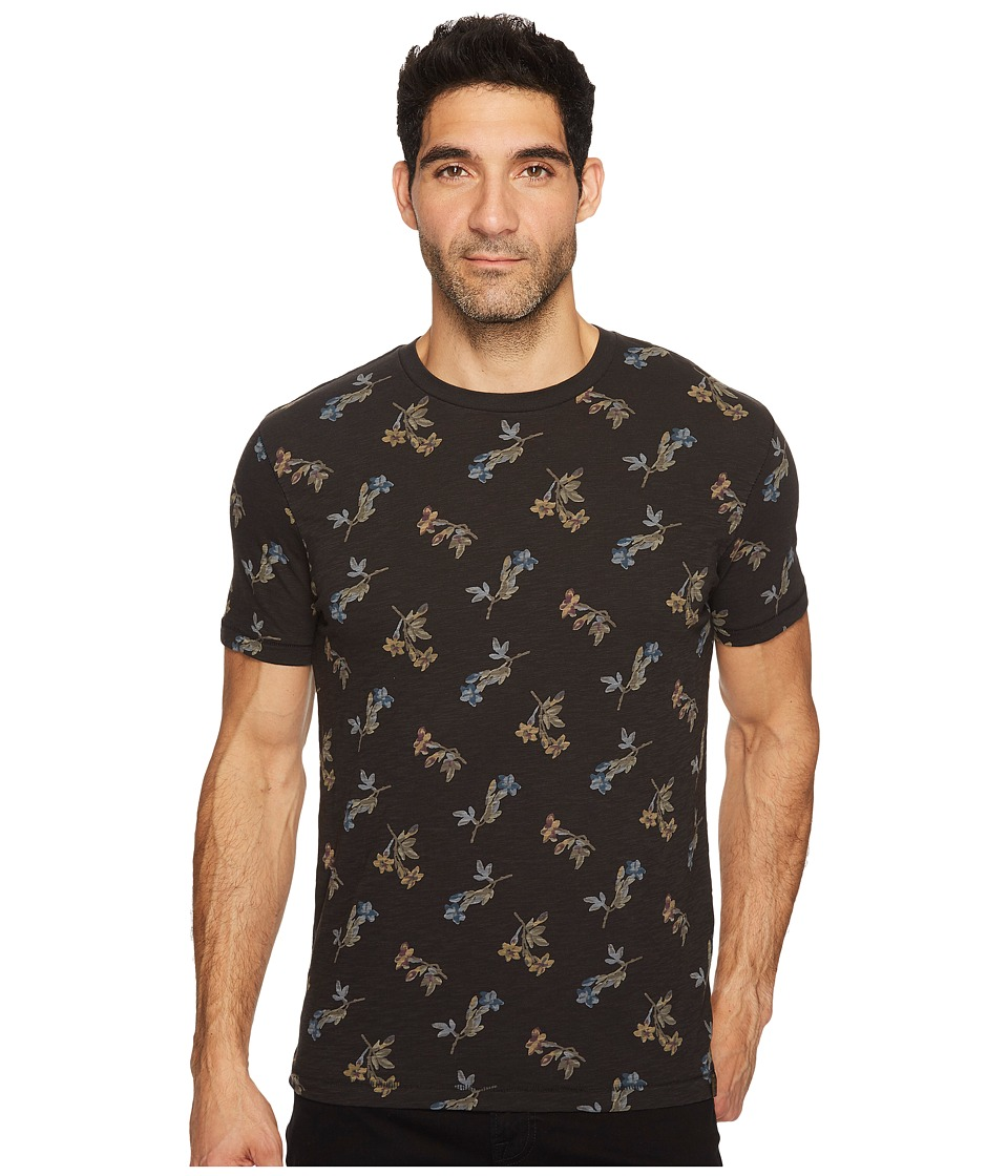 Lucky Brand Dogwood Printed Tee (Black Multi) Men